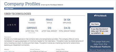 Private company profiles